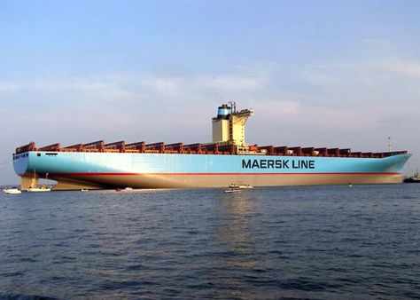 Massive Chinese Maersk Line Container Ship - cargo ship security officer sample resume
