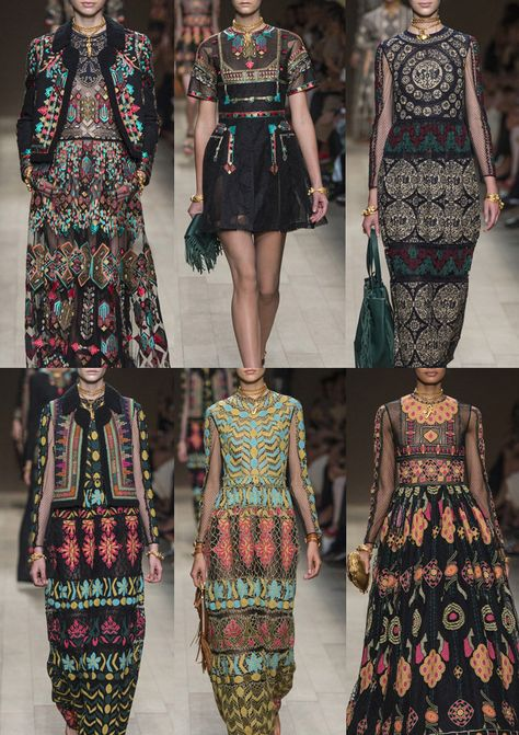 You love ethno fashion?fr S/S 14 VALENTINO: Highly Decorative Embroideries – Folksy and Ethnic Looks – Placements as Jewellery – Elaborate Edgings and Borders – Egyptian Graphics – Bea.