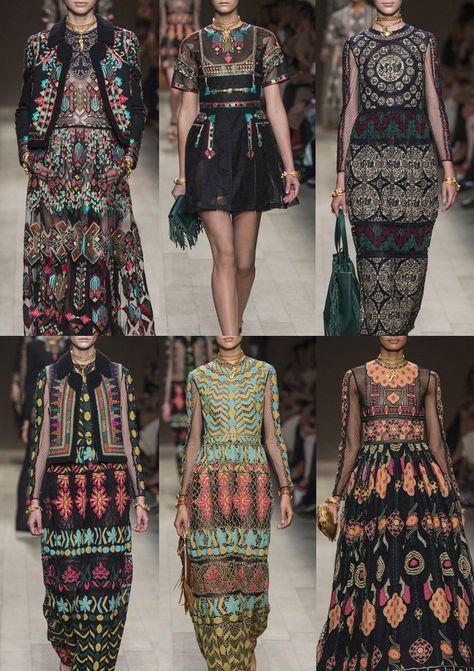 Paris Fashion Week   Spring/Summer 2014   Print Highlights Part 3 catwalks. valentino's ethnic design. pinned via patternbank.