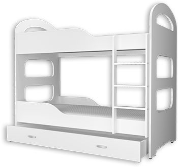 Letto A Castello 180x80.Bunk Bed With Mattresses Dominique 180x80 Cm Bunk Beds Mattress