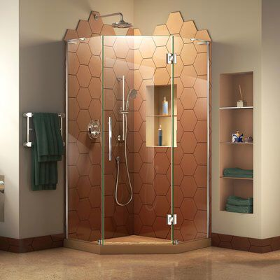 Prism Plus 34 X 72 Neo Angle Hinged Shower Enclosure With