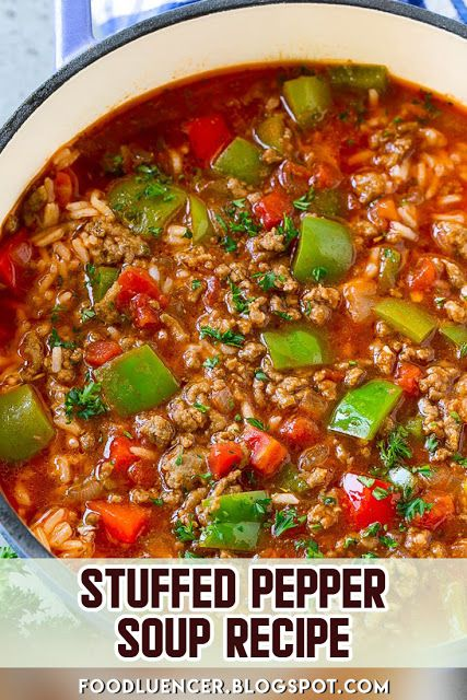 Stuffed Pepper Soup Recipe Stuffed Peppers Stuffed Pepper Soup Soup Recipes