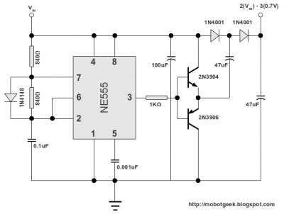 555 DC Voltage Doubler Circuit | Circuit, Electronics ... Voltage Multiplier Schematic on marx generator schematic, buck converter, turbine schematic, base power supply schematic, cockcroft–walton generator, phase shifter schematic, forward converter, tunnel diode schematic, switched-mode power supply, boost converter, power inverter schematic, diode bridge, marx generator, transformer schematic, rectifier schematic, audio amplifier schematic, active rectification, tvs diode schematic, charge pump, dc to dc converter, voltage doubler, voltage suppressor diode wheel, 555 oscillator schematic, voltage converter circuit, schmitt trigger schematic, flyback converter, voltage tripler circuit, circuit breaker schematic, buck–boost converter, rf probe schematic, phase converter schematic, smps schematic,