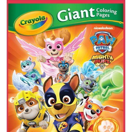 Crayola Paw Patrol Giant Coloring Pages 18 Pages Ages 3 Child Walmart Com In 2021 Paw Patrol Birthday Party Paw Patrol Centerpiece Paw Patrol Coloring
