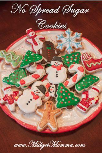 No Spread Christmas Sugar Cookies
