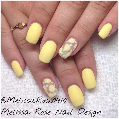 Nail Art For Summer Funsummernailcolors Yellow Nails Yellow Nails Design Nails