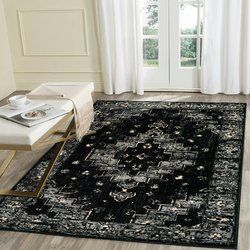 Rueben Black Gray Area Rug With Images Area Rugs Grey Area
