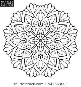 Blumen Mandala Vintage Dekorative Elemente Orientalisches Muster Vektorillustrati Mandala B Mandala Malvorlagen Orientalische Muster Ausmalbilder