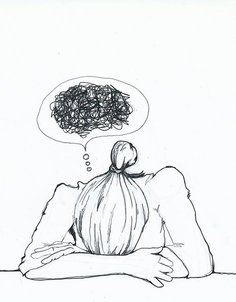 Head's a mess...I have quite a few days when I can literally see this thought bubble coming out of my own head.