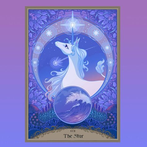 An officially licensed Last Unicorn Tarot Deck, featuring Schmendrick, Molly Grue, The Red Bull, King Haggard, Prince Lir, and others! Officially licensed!