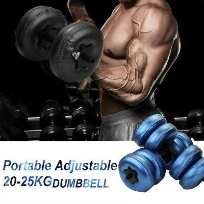25kg Portable Water Filled Adjustable Dumbbells Training Weight Muscle Fitness In 2020 Arm Workout Muscle Training Gym Workouts