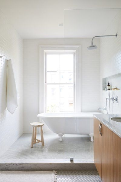 Photo 21 Of 27 In Before After A 19th Century Brooklyn Brownstone Bathrooms Remodel Wet Rooms Wet Room Bathroom