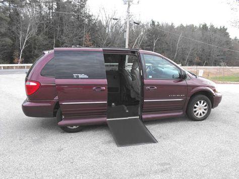 2001 Chrysler T C Lxi Handicap Wheelchair Van 6 Way Power Transfer
