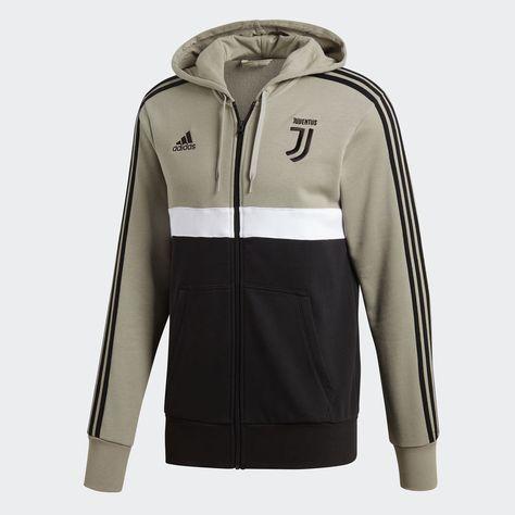 2e159ad82 adidas Sudadera con Gorro 3 Franjas Juventus - Gris | adidas Mexico