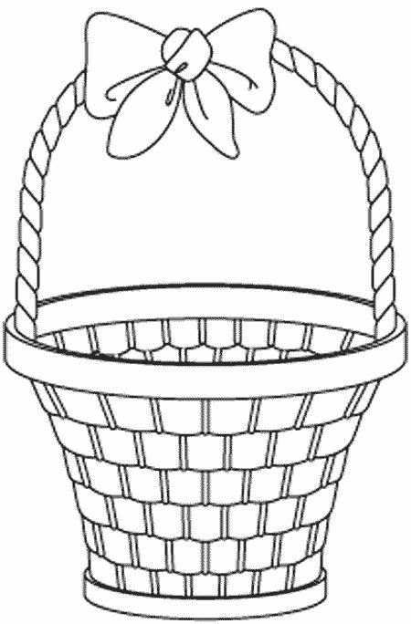 Vegetable Basket Coloring Lovely Empty Fruit Basket Coloring Pages Easter Basket Printable Easter Basket Template Easter Coloring Pages