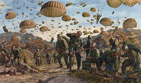 Let Valor Not Fail by James Dietz Airborne - Korean War - Military Art