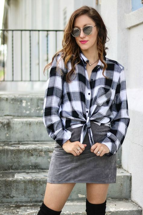 THE BEST PLAID SHIRT - Want more versatility in your closet? Of course you do! Philadelphia style blogger, Erica of Coming Up Roses, is sharing 3 different ways to wear this versatile plaid shirt that's currently on SALE! Good to wear now all the way through fall!, plaid shirt, plaid shirt outfit fall, plaid shirt outfit ideas, plaid shirt around waist outfit, how to style plaid shirts, how to wear plaid shirts.  #fashion #style #womensfashion #styleinspiration