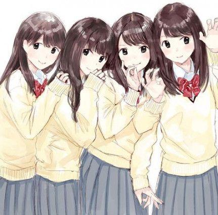 Super Drawing Girl Friends Anime Art 55 Ideas Gambar Anime Gadis Animasi Gambar Teman