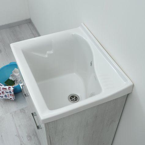 Accessori Per Bagno Dolomite.Lavatoio In Ceramica 61x50 Lago Dolomite Nel 2020 Accessori Da Bagno Arredamento Bagno Vasca