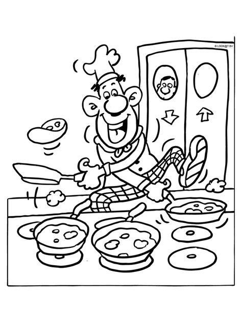 Kleurplaat Koken En Bakken Koning Bobbel On Pinterest Knutselen Het Weer And Vans