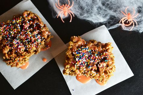 Take your rice krispies to the next level with this Chocolate Pumpkin recipe.
