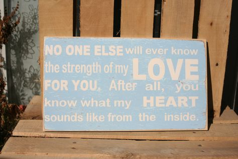 My LOVE for you hand painted distressed wood sign. $45.00, via Etsy.