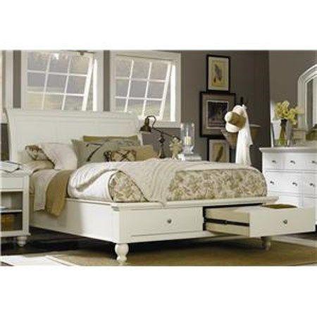 Cambridge Queen Sleigh Bed With Storage, Furniture Fair Goldsboro