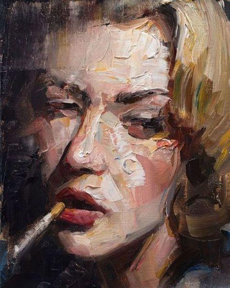 "redlipstickresurrected: ""Matt Talbert (American, based Tustin, CA, USA) - Texture Study Paintings: Oil """