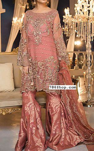 47e628c1ab891 Tea Pink Chiffon Suit | Buy Pakistani Designer Fashion Dress in 2019 ...