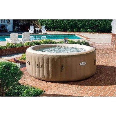 A Avec Exterieur Filtres Intex Jets Personnes Piscine Portable Pour Spa Intex Portable Outdoor 4 Pe Inflatable Hot Tubs Spa Hot Tubs Hot Tub Outdoor