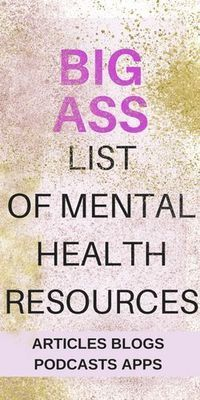 List of Mental Health Resources - Radical Transformation Project