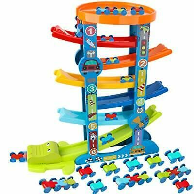 Advertisement Loyo Toddler Car Ramp Toys Car Race Tracks For Toddlers With 10 Mini Cars Toy Car Racing Toddler Car Mini Cars