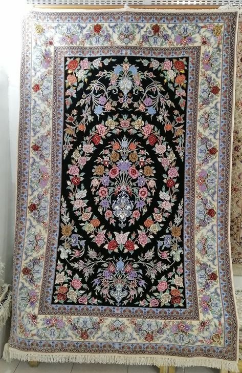 Esfahan Hand Knotted Wool And Silk Rugs