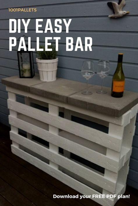 Diy Easy Pallet Bar Plans Free Pallet Tutorials Pallet