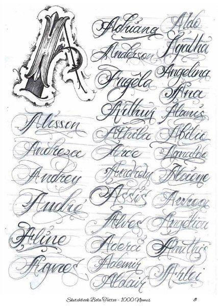 Nombres Con La Letra A En 2020 Letras De Chicano Fuentes De Letras Para Tatuaje Letras Para Tatuajes