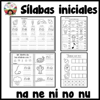 Letra N Silabas Na Ne Ni No Nu Actividades Para Enseñar Las Letras
