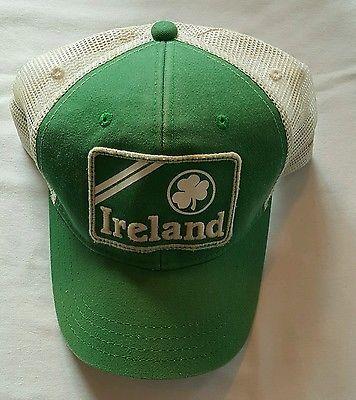 American Eagle Green Ireland Men s Distressed Trucker Hat  de2a8ae4e1d
