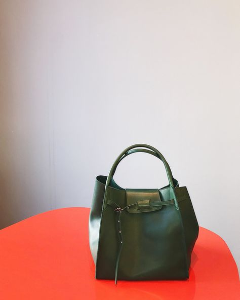 Céline Big Bag, Medium, Smooth Calf skin leather, Dark Green.