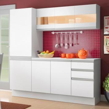 Cozinha Compacta 100 Mdf Madesa Smart 170 Cm Modulada Com Armario Balcao E Tampo Magazine Fkflowers Com Imagens Cozinha Compacta