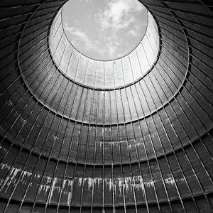 The Little House Inside The Cooling Tower Bw House Inside
