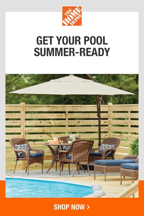 The Home Depot has what you need to spend summer in your back yard. Choose from playsets and pools to lawn games and coolers to make your yard the place to be all season long. Get ready to host family and friends for memories you won't forget. Tap to explore items to complete your outdoor space at The Home Depot.