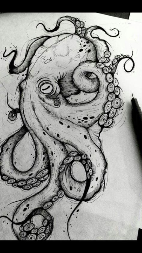 octopus tattoo#Octopus #octopustattoo #Tattoohttps://tattooideen.stylekleidung.com/octopus-tattoo/