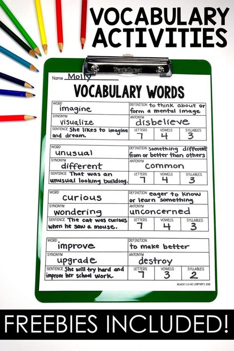 vocabulary words of the day . vocabulary words with meaning . vocabulary words for kids . vocabulary words for grade . List Of Vocabulary Words, Vocabulary Journal, Vocabulary Strategies, Vocabulary Instruction, Teaching Vocabulary, Vocabulary Practice, Vocabulary Building, Vocabulary Worksheets, Teaching Writing
