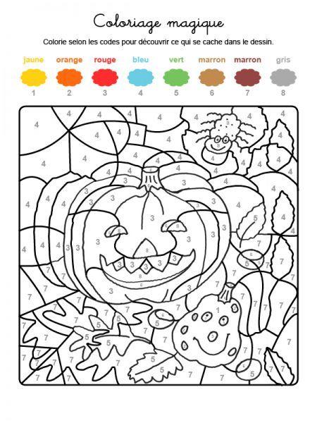 Coloriage Magique Pour Feter Halloween
