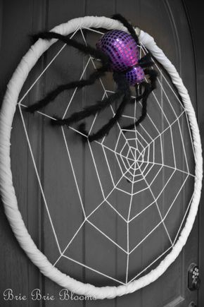 Hula Hoop Spider Craft Spider Crafts Halloween Outside James