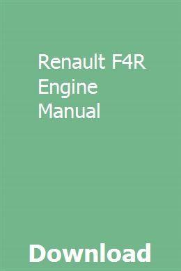 Renault F4R Engine Manual | keostatsatneu | Repair manuals
