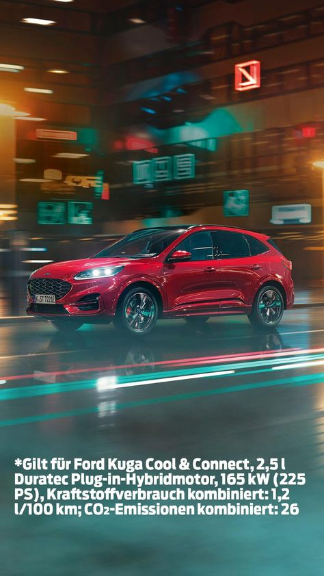 Elegantes Design, großzügiger Komfort und moderne elektrifizierte Antriebstechnologien: Der Ford Kuga Plug-in Hybrid lässt keine Wünsche offen. Jetzt ab einer monatlichen Leasingrate von 259 € sichern!*