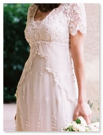 Lace Wedding Dress With Embroidered Tulle Cap Sleeves And Empire Waist Casual Backyard Plus Sizes Available