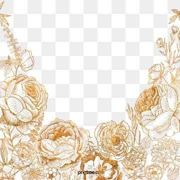 Golden Flower Border Element Flower Border Clipart Golden Leaf Png Transparent Clipart Image And Psd File For Free Download Flower Border Clipart Flower Clipart Flower Border Png