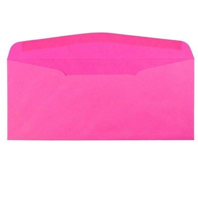 Jam Paper Brite Hue 10 Window Envelopes 4 1 8 X 9 1 2 50 Per Pack Ultra Fuchsia Pink Window Envelopes Security Envelopes Envelope